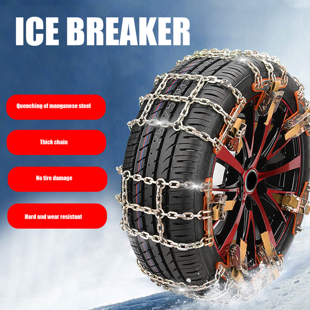 Universial Car Snow Chains Winter Use Car Tire Chain for Snow Ice Road Steel Tyre Traction Chain Universal Auto Tools car access 2