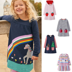 Children Clothes Long Sleeve Kids Dresses for Girls Clothing Autumn Winter Toddler Clothing Casual Hoodie Dress Baby Girl Clothe(China)