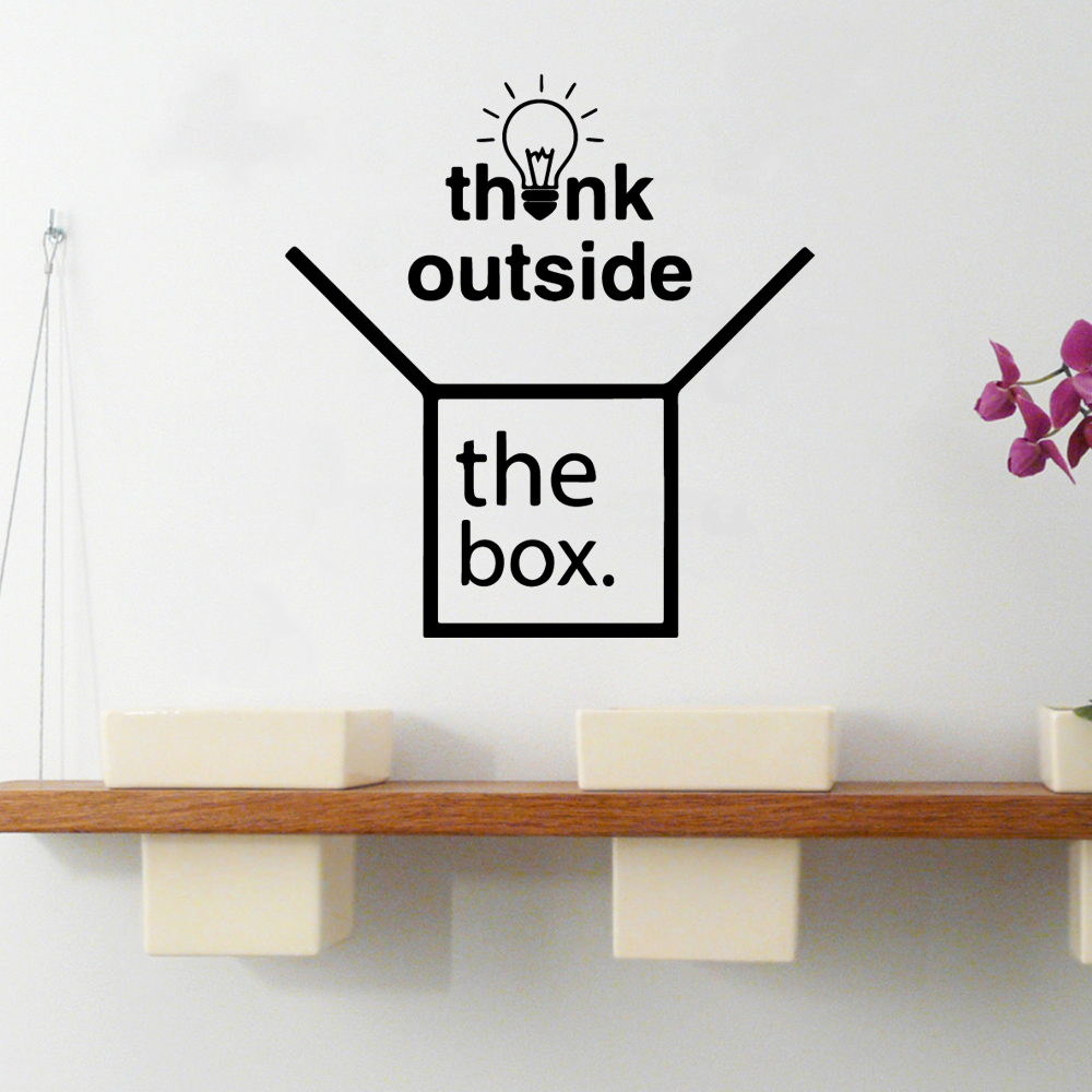 Fashionable think outside box Wall Art Decal Decoration Fashion Sticker For Kids Rooms Home Decor Diy Pvc Home