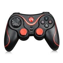 S3 Bluetooth Gamepad עבור אנדרואיד Wireless ג ויסטיק משחקי בקר שחור עבור אנדרואיד Smartphone אנדרואיד טלוויזיה תיבה
