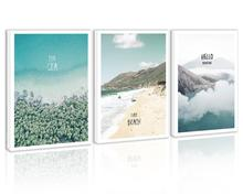 Summer Sea Beach Wall Art Decor Mountain Forest Tree Canvas Painting Kitchen Cloud Ocean Prints Pictures for Living Dining Room