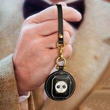Bracelet en cuir véritable pour Apple Watch, pour Apple Watch série 5 4 3 2 1, bracelet de poche, iWatch 42mm 38mm 44mm 40mm