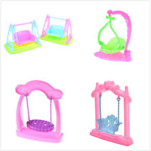 1PCS Cute Princess Garden Swing For Dollhouse Furniture For Children Doll Accessories Doll Play House Kids Toys 4Styles(China)