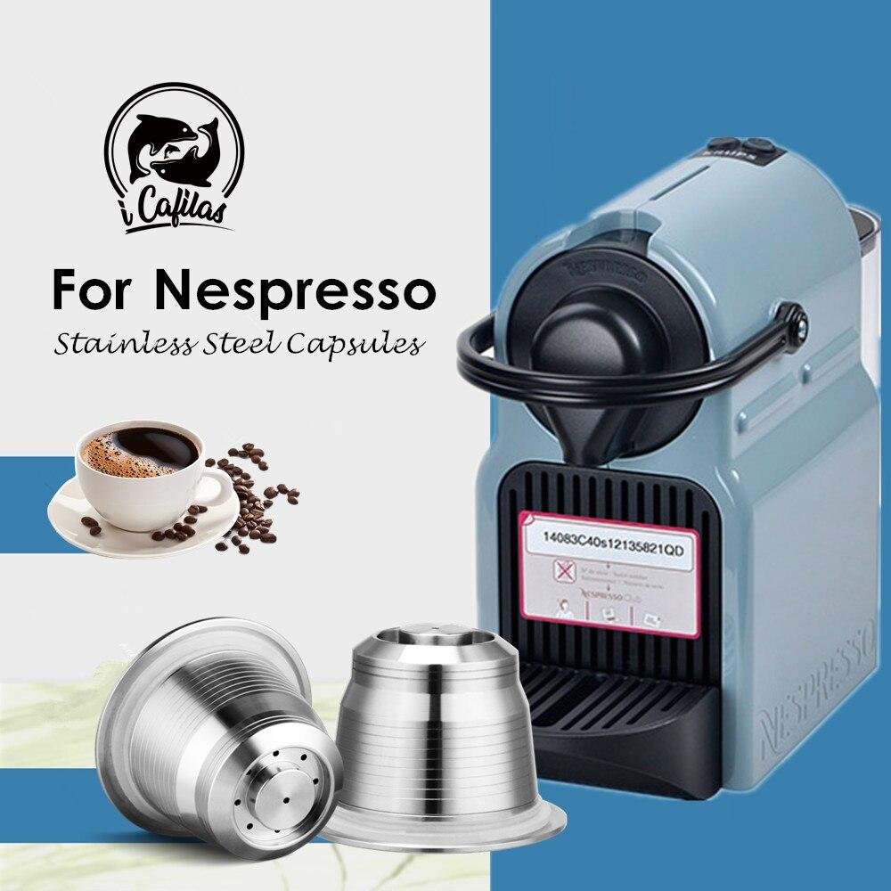 Icafilas vip link 네스프레소 리필 형 커피 캡슐 포드 스테인레스 스틸 에스프레소 커피 필터 및 탬퍼 도매