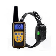 Ошейник для дрессировки собак, дистанционное устройство на 800 ярдов, водонепроницаемый, перезаряжаемый, ж/к дисплей, звуковой сигнал, вибрац...