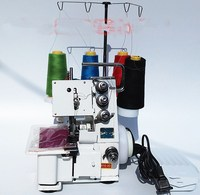 Household industrial dual purpose four wire three thread flat seam, overlock machine, with LED light