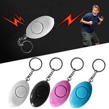 Mini forma de huevo para mujeres llavero de alarma de seguridad Personal protección de seguridad antiataque alarma de emergencia niños alerta escolar