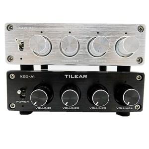 Image 2 - HIFI селектор сигнала распределителя звука с 1 входом и 4 выходами RCA HUB, переключатель источника, переключатель тона громкости для платы усилителя