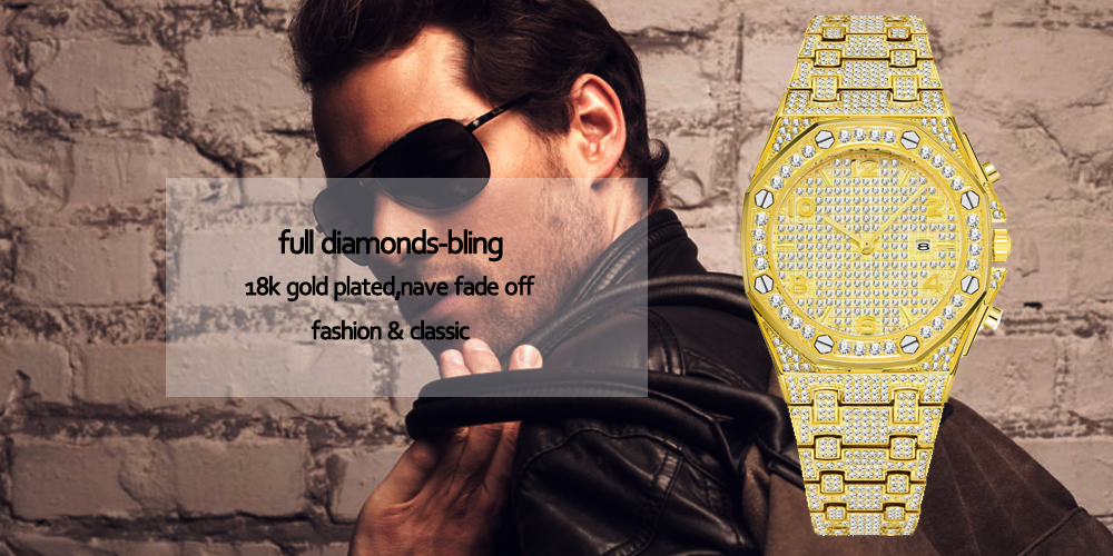 luxury mens business watches full diamonds ice out watch hip hop quartz watch for men 18k gold plated waterproof auto date male clock man drop shipping for shopify 2020 (37)