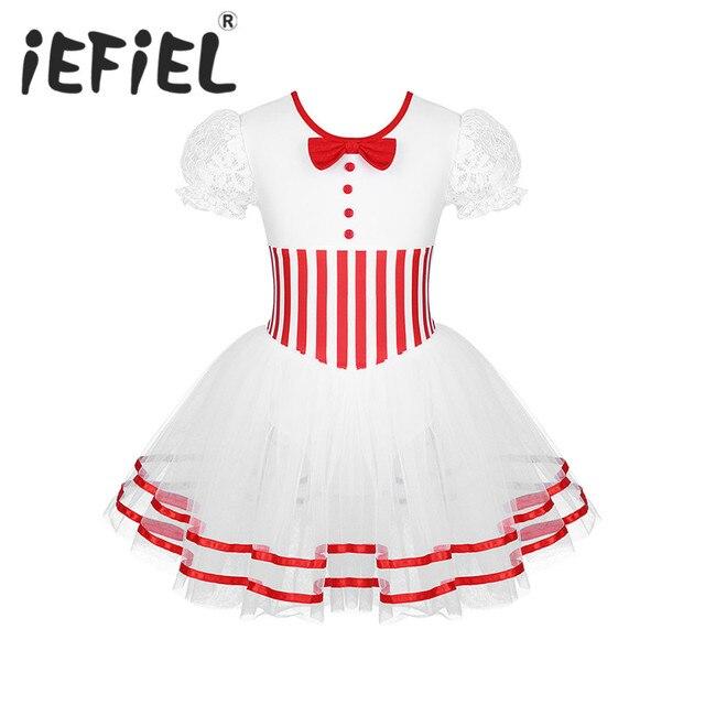 Śliczne dzieci dziewczyny boże narodzenie kostium taneczny koronki rękawy Puff łyżwiarstwo figurowe jazda na rolkach Baton Twirling Mesh trykot sukienka