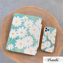 Cute Daisy For iPad AIR 2 3 10.5 Pro 2019 7th 10.2 inch Case for iPad 2017 2018 9.7 Mini 5 Cover With Pencil Holder Cases