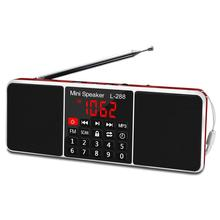 Lefon Portable FM Radio Receiver Speaker Stereo MP3 Player Support TF Card USB Drive LED Display no bluetooth Portable Radios free shipping tecsun a9 fm stereo radio reception led digital display mp3 player computer speaker radio receiver portable radio