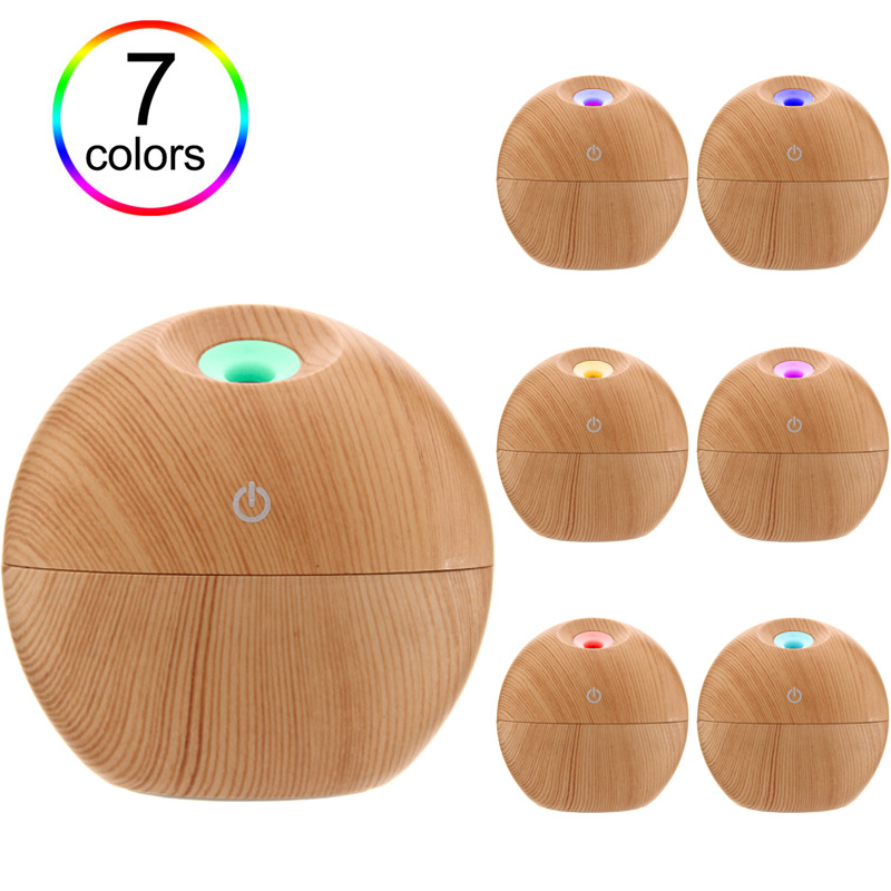 Household Wood Grain Aromatherapy Humidifier Bedroom Office Desktop Essential Oil Aromatherapy Machine Air Purification Sprayer