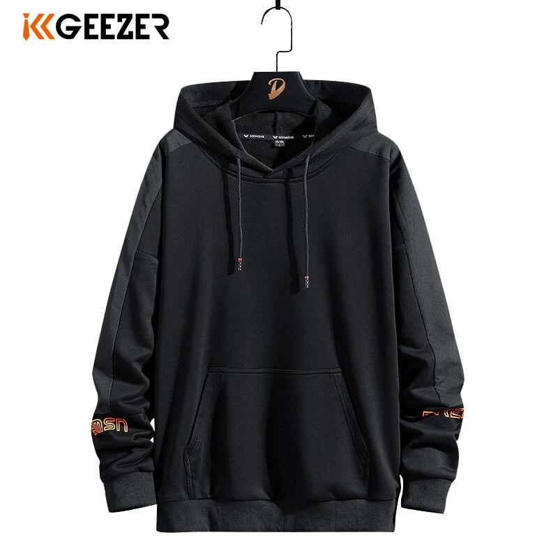 Hooded Sportswear Sweatshirts Male Hip-Hop Black 7XL Plus-Size 5xl 6xl 8XL Spring 68%Cotton