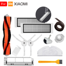 купить Filter Cleaner For XiaoMi Roborock Robot S50 S51 Vacuum Cleaner Parts Kit Mop Cloth HEPA Filter Side Brush Roll Brush Clean Tool онлайн
