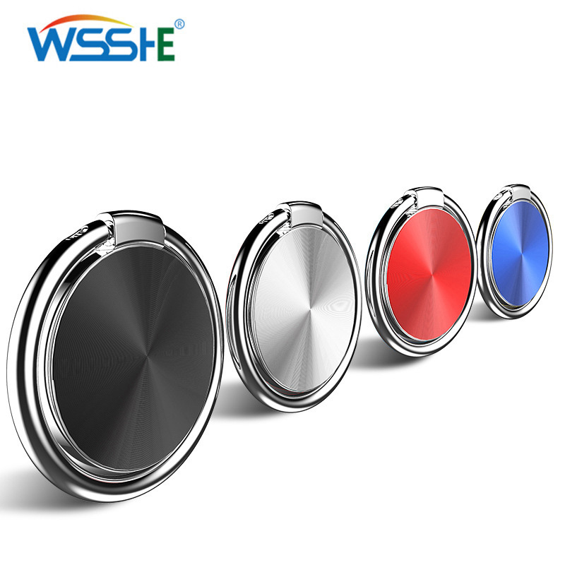 6 Colors Finger Ring Magnetic Car Phone Holder For Mobile Phone Tablet PC Universal Ultra-thin Texture Design Holder Desk Stand