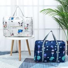 Waterproof Nylon Cartoon Gir Travel Bags Women Large Capacity Folding Duffle