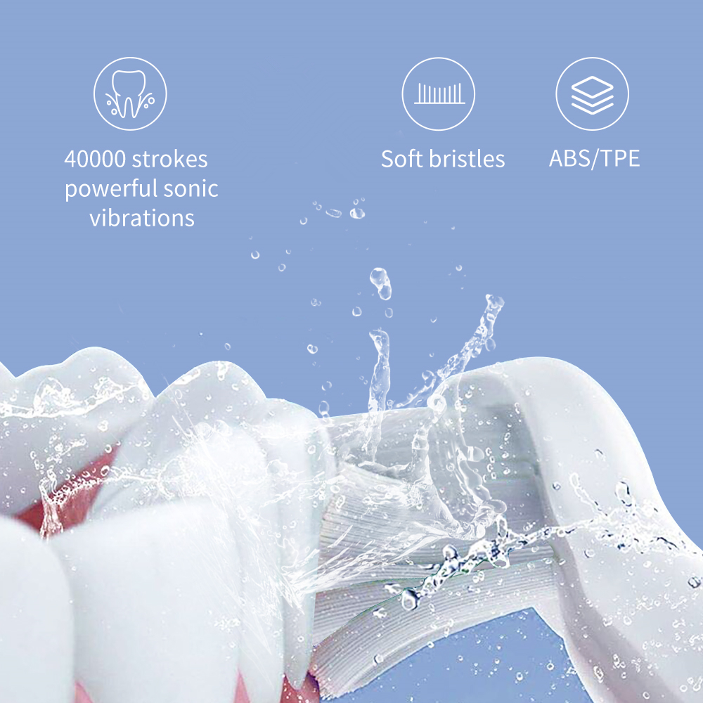 SEAGO Electric Toothbrush E9 Sonic Rechargeable Travel Waterproof Tooth Brush Buy 1 Get 1 Free 5 Mode Deep Clean Whiten Gift