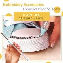 Pintura diamante caneta bordado acessórios ferramentas de pintura diamante 2000 pçs diamantes ferramentas de pintura diy ferramentas decorativas