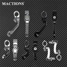 Motorcycle Footpeg Footrests 32mm Highway Pegs Clamp Mount Black/Chrome For Harley Sportster XL 1200 883 Dyna Touring Softail
