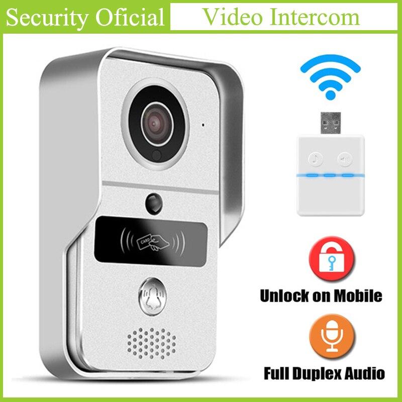 WIFI RFID wideo telefon drzwi noc detekcja ruchu w wodoodporna kamera HD 720P inteligentny bezprzewodowy dzwonek 64Gb karty TF