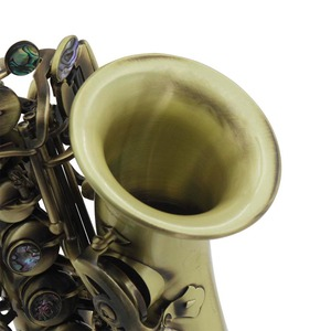 Image 3 - ヴィンテージスタイル Bb ソプラノサックスサックス真鍮素材木管楽器ケース手袋クリーニングクロスブラシサックスストラップ Mouthp