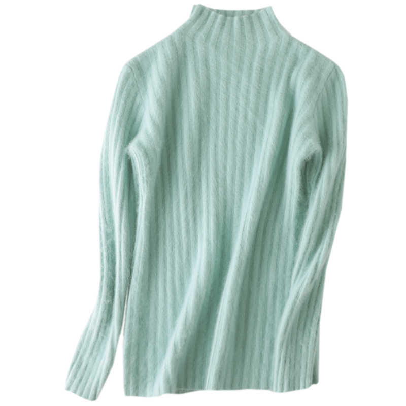 Super Warm 100% Mink Cashmere Sweaters and Pullovers Women Winter High elasticity Soft Sweater Turtleneck Female Basic Pullovers