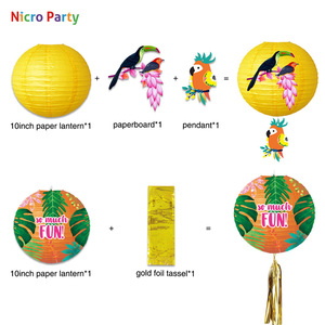 Image 3 - Nicro 30 יח\סט טרופיים תוכי נושא מסיבת קישוט ערכת אלוהה ואאו הוואי חוף דקור תינוק מקלחת יום הולדת # Set135
