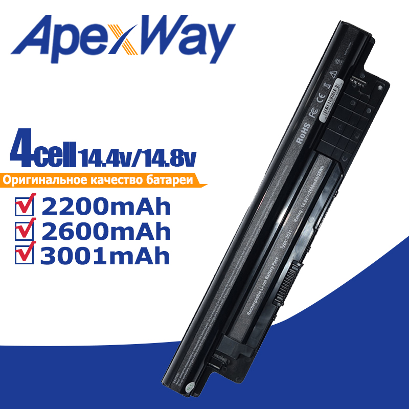 Apexway 14.8V <font><b>3200</b></font> mAh Laptop <font><b>Battery</b></font> XCMRD For Dell Inspiron 17R 5721 17 3721 15R 5521 15 3521 14R 5421 14 3421 MR90Y image