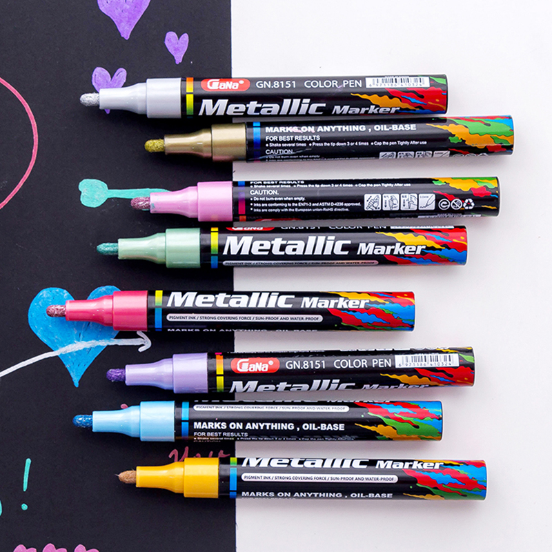 New 6 Pieces Silver Sharpie Metallic Permanent Marker Fine Point New S4