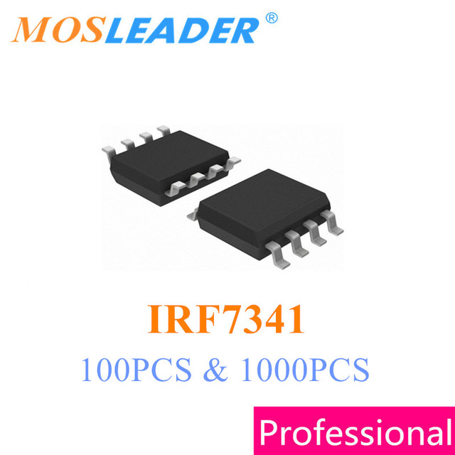 Mosleader IRF7341 SOP8 100PCS 1000PCS Dual N Channel 55V 4.7A Mosfet IRF7341TRPBF IRF7341PBF 7341 Chinese High quality
