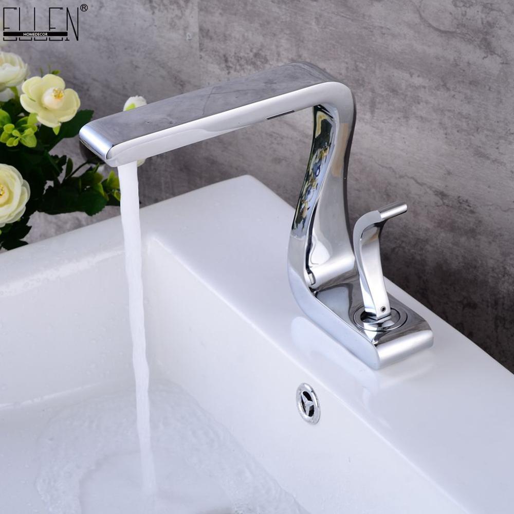 Robinet de salle de bain chaud en laiton froid bassin évier robinets en laiton massif mitigeur d'eau robinets grue de bain ELM1123