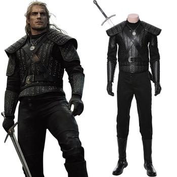 Geralt Cosplay Costume adult women men Witcher Leather armor Full Set Halloween Carnival Costume Custom Made 1