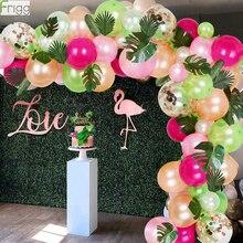 Тропические Гавайские воздушные шары, гирлянда, стандартная цепочка для воздушных шаров, детский праздник, украшение на день рождения, лето, Гавайские вечерние ринки