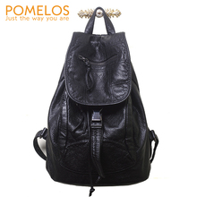 POMELOS Backpack Women Ladies Backpack Female For School Teenage Girls High Quality PU Leather Colleage Bag Vintage Backpack