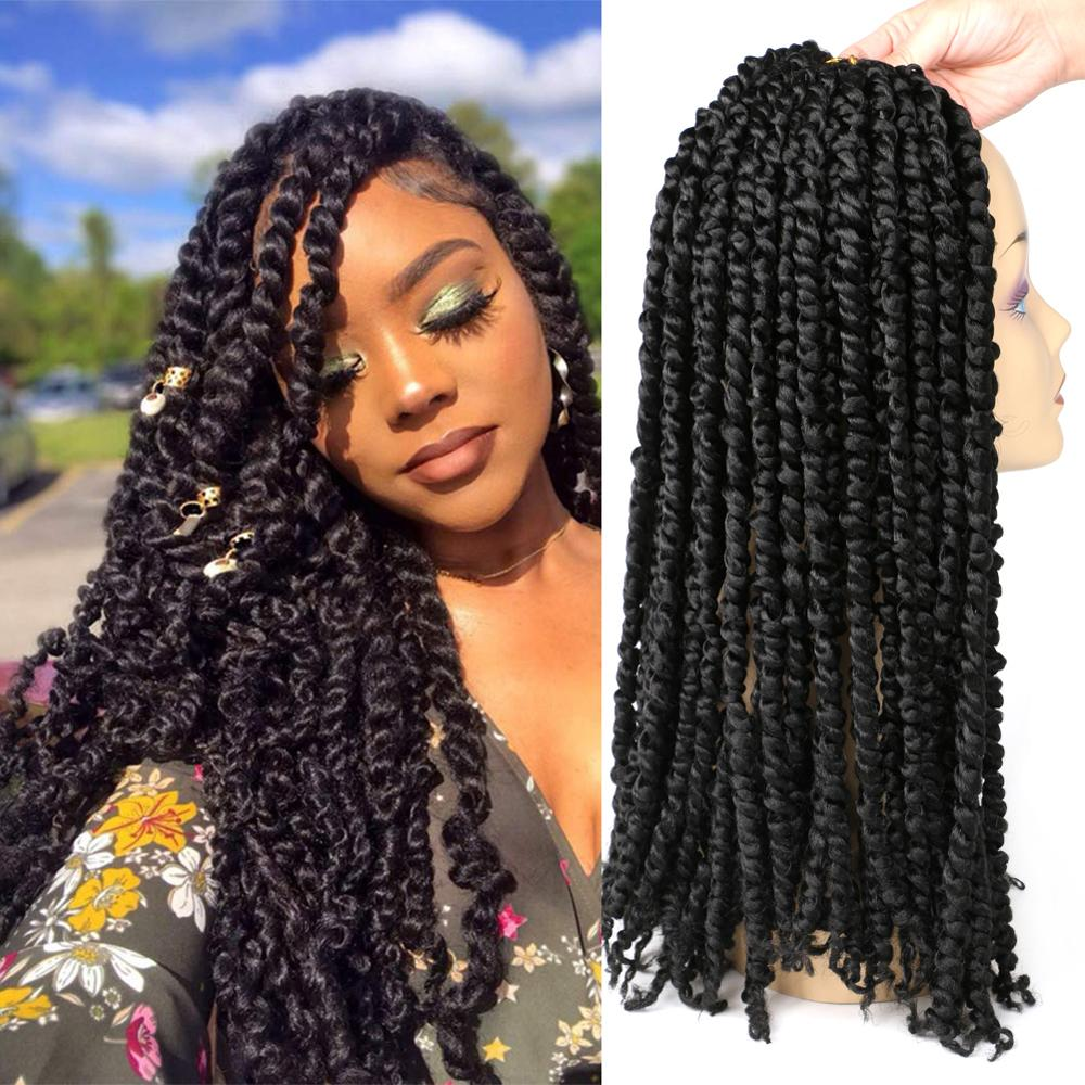 DAIRESS Pre-twisted Passion Twist Crochet Hair 18