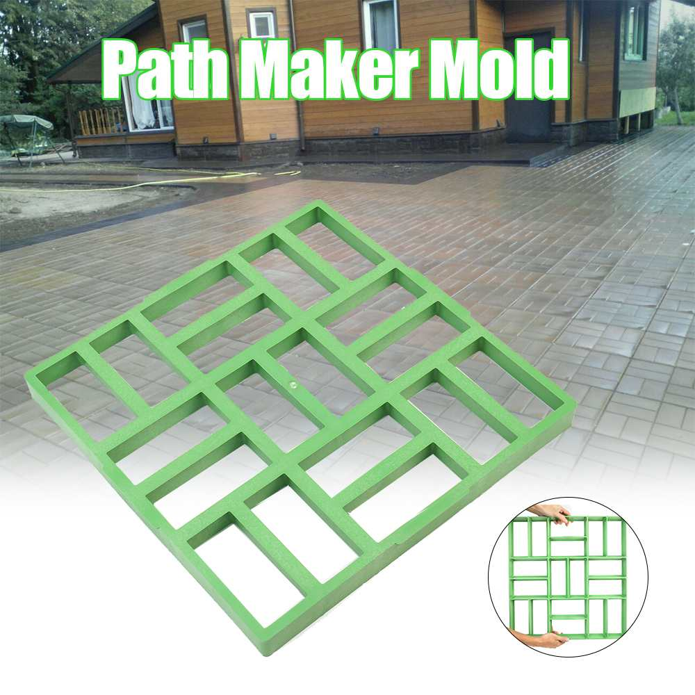 50cmx50cm DIY Garden Yard Pavement Concrete Mold Paving Cement Brick Road Molds Home Patio Sidewalk Stone Pathway Maker Tool