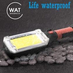 Wielofunkcyjne światło robocze LED COB Worklight Camping światło oświetlenie zewnętrzne lampa kontrolna światło magnetyczne hak na zaczep wodoodporny