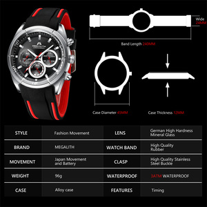 Image 5 - MEGALITH 2019 New Arrivals Watches for Men Top Brand Luxury Casual Sport Waterproof Watch Man Clock Military Chronograph watches