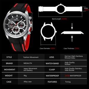 Image 5 - MEGALITH 2019 nowości zegarki dla mężczyzn Top marka luksusowe Casual Sport wodoodporny zegarek człowiek zegar chronograf wojskowy zegarki