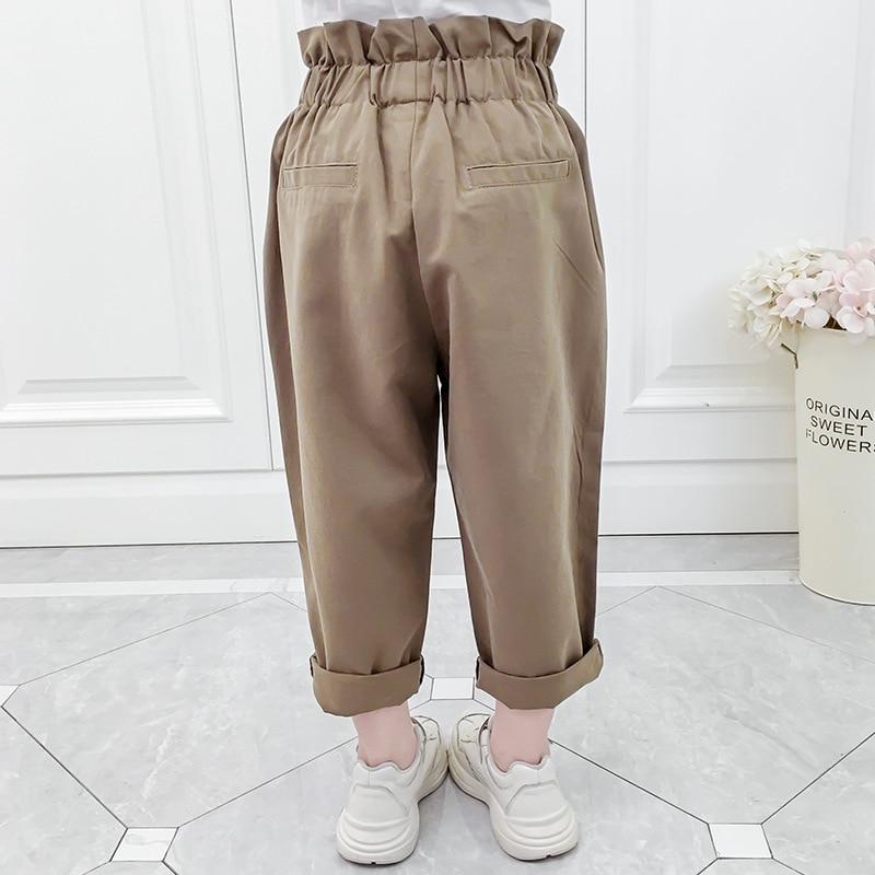 criancas elastico plissado cintura com cinto baggy 02