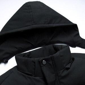 Image 5 - FAVOCENT Degli Uomini di Buona Qualità Giacca Super Caldo di Spessore Mens di Inverno Parka Cappotti Lunghi con Cappuccio per Il Tempo Libero Degli Uomini Parka Più Il formato 5XL