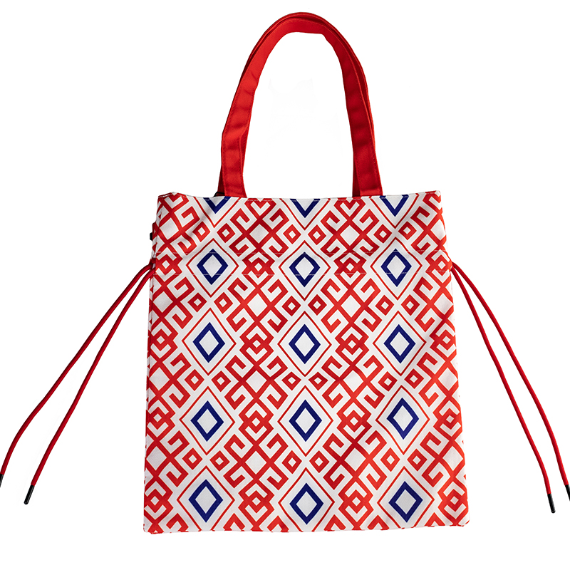 MENOGGA Drawstring Bag Cotton Portable Reusable Shopping Bags Grocery 3D Printing Durable Casual Daily Use Cloth Bag For Women