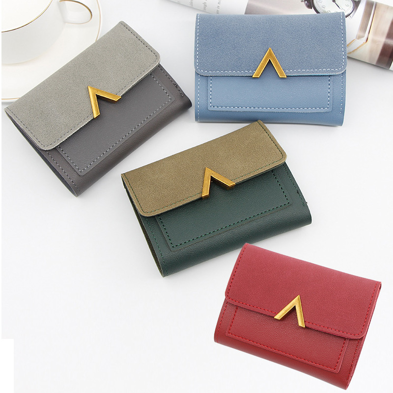 2019 Women Small Short Leather Wallet Girls Wallets Vintage Luxury Famous Mini Female Fashion Wallets Credit Card Holder Purse