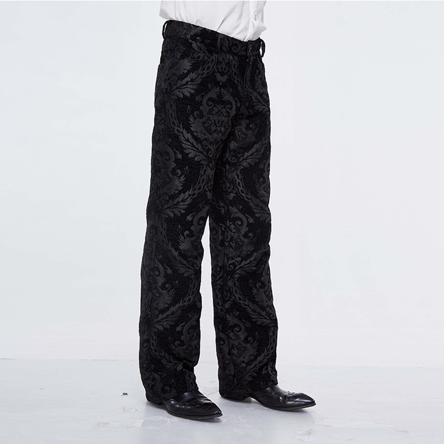 Devil Fashion Men Steampunk Retro Long Trousers Victorian Style Casual Embroidery Pants Gothic Punk Party Formal Wide Leg Pants 17