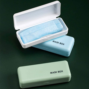 Portable Plastic Dustproof Face Mask Storage Box Holder Waterproof Mouth Cover Container Case Pocket Mini Mask Case Box