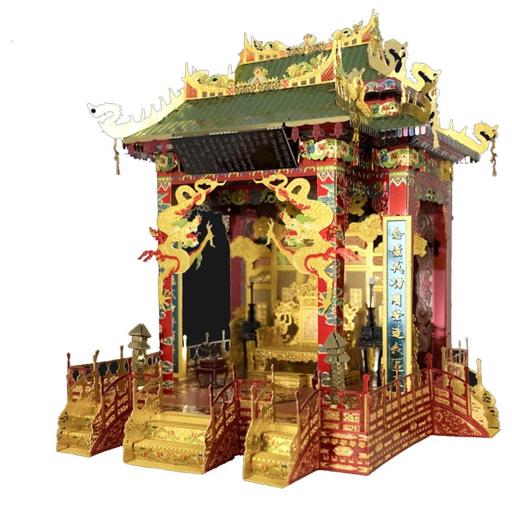 MU Hall of Supreme Harmony 3D Metal Model Kits DIY Assemble Puzzle Laser Cut Jigsaw Building Toys Gift YM-N088