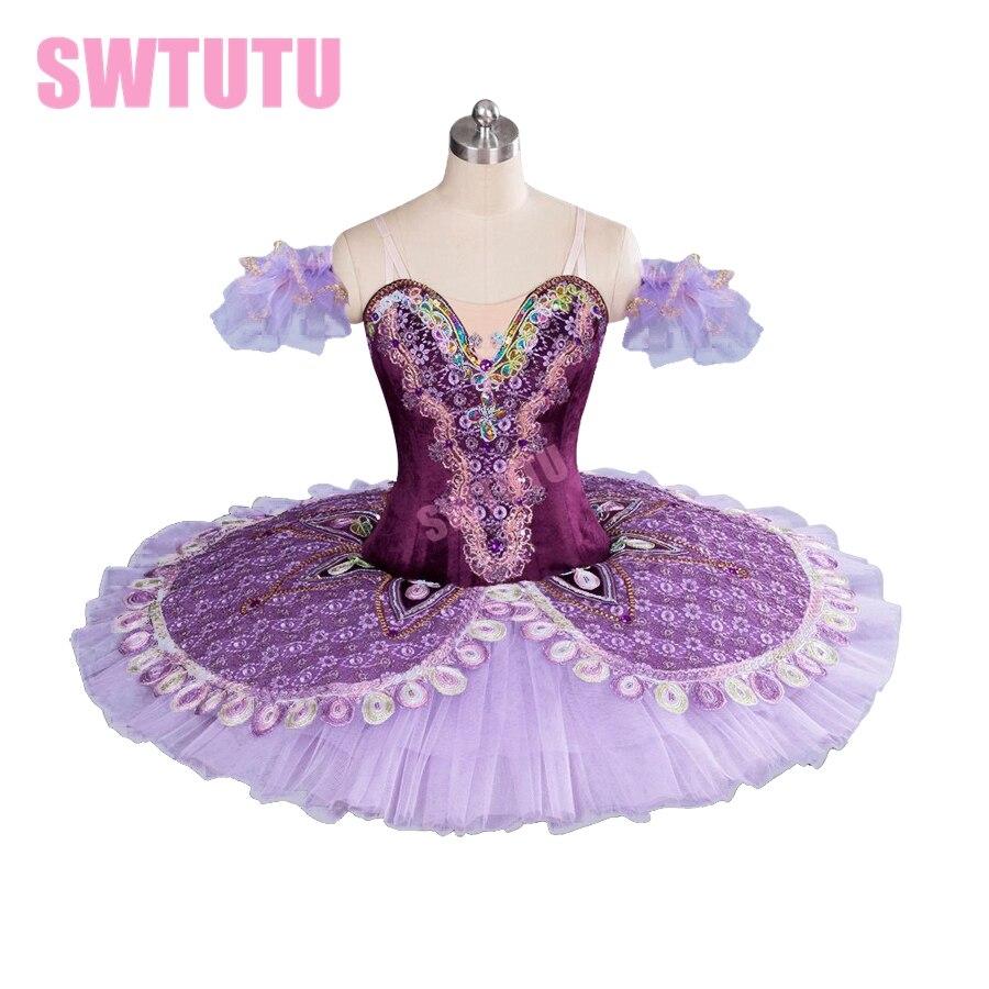 Фиолетовая Профессиональная женская классическая балетная пачка для девочек, блинная пачка «Щелкунчик» BT9063