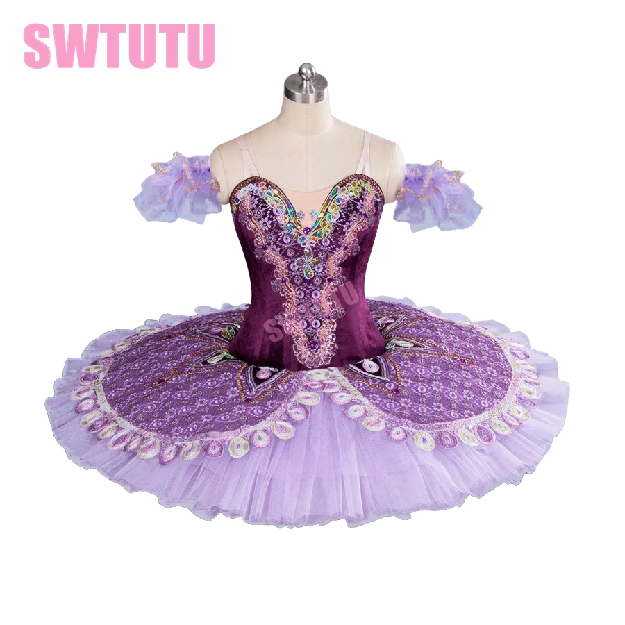 Purple Professional Tutu Women Classical Ballet Tutu For Girls Pancake Tutu Nutcracker BT9063