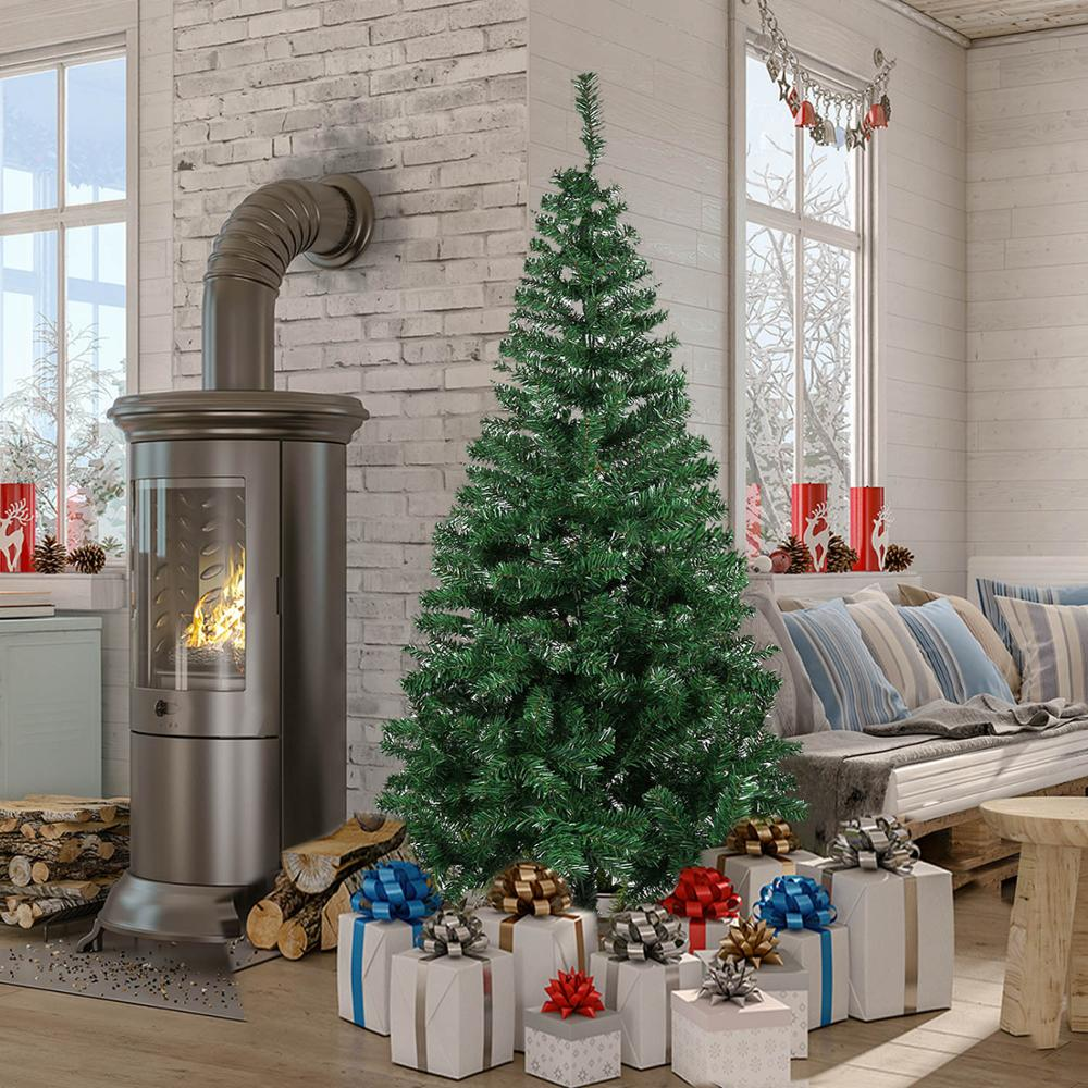 Christmas Tree Artificial Decoration Full Tree With Solid Metal Stand For Home Party New PUO88